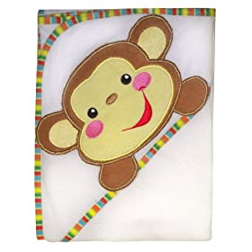 Fisher Price Rainforest Character Applique Hooded Towel