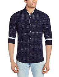 Breakbounce Men's Dress Shirt (8907066073059_Rutherford_Medium_Midnight Blue)