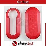 Fiat Gehäuseschale Autoschlüssel Rot 500 Brava Doblo Punto Ersatz Plastik Hülle Neu