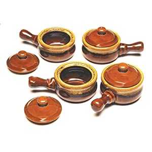 Brown 744047 Onion Soup Bowls Set of 4