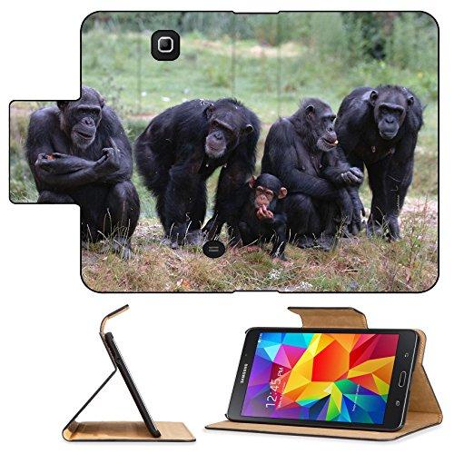 Luxlady Premium Samsung Galaxy Tab 4 7.0 Inch Flip Pu Leather Wallet Case When Monkey s Go Bad IMAGE ID 221188