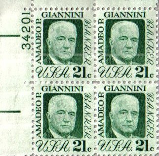 amadeo-p-giannini-banker-bank-of-america-1400-plate-block-of-4-x-21aa-us-postage-stamps-by-usps