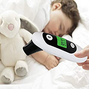 TSIGETH-CHIC Baby-Thermometer Ear and Forehead   Temporal Digital Infrared Thermometer for Fever, Kids and Adults (1 Pack)