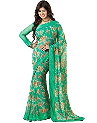 Vastram Online Shop Women's Georgette Saree (60_Multicolor)