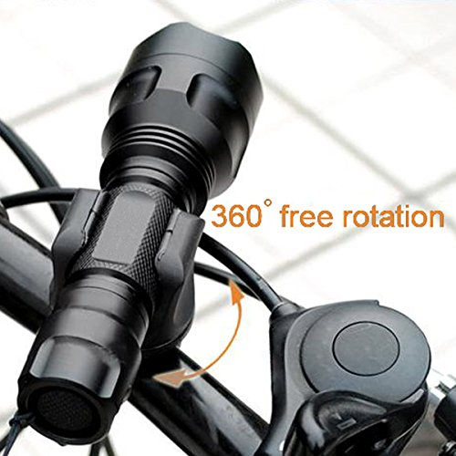 Shells® Latest Version Most Convenient Black Bicycle Flashlight Mounting Bracket Speaker Clamp Holder For Bike