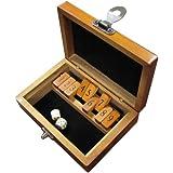 Sarah Bamboo Wood Shut the Box Board Game - 6.25 Inch Case
