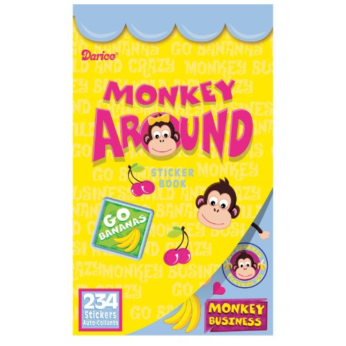 Velvet Sticker Book, Monkey Around, 234 Stickers