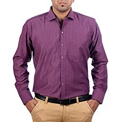Aaduki Men's Casual Purple Shirt-XL