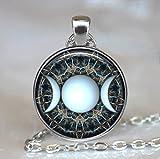 Triple Goddess Pendant, Wiccan - Moon Goddess Jewelry