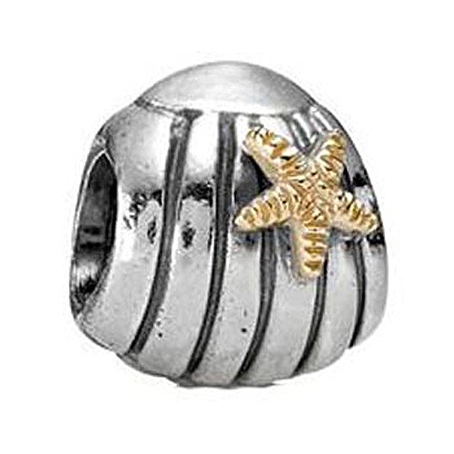 PANDORA Seashell Charm, Two Piece Bundle, with Pandora Clasp Opener