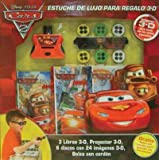 Cars 2 Estuche de lujo para regalo 3-D / 3-D Deluxe Book Gift Set (Spanish Edition)