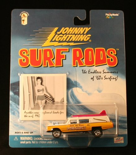 SANTA MONICA MANIACS * YELLOW * Johnny Lightning 2000 SURF RODS Release Two 1:64 Scale Die Cast Vehicle
