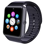 Smart Watch, Willful Smartwatch Phone NFC Android iOS Wear Bluetooth con SIM Slot Fotocamera Universale per iPhone Samsung Huawei Lettore Video Orologio Fitness Water per Donna Uomo Sport Running Nero
