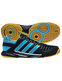 Adidas Men's Adipower Stabil 10.1 Indoor Court Shoe-Black/Solar Blue/Metallic Silver