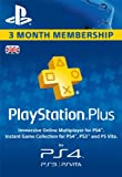 PSN PlayStation Plus 3-month Membership UK Online Code (PS4)