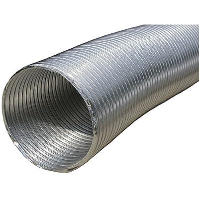"""Builder's Best 110412 Semi-Rigid Aluminum Duct with 10"""" Dia, 8'"""