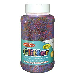 Funny product Creative Arts by Charles Leonard Glitter, 16 oz. (1 Lb.) Bottle, Multi-Color (41100)