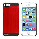 Ahha Jensen Metallic Back Case Cover For Apple IPhone 5S / 5 - Laser Red (A-MCIH5-0G91)