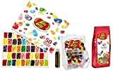 Jelly Belly Jelly Beans Variety Pack, 50 flavor Box 21 Oz, an Empty Mini Bean Bin, 7.5oz Assorted Jelly Beans, a Starry Night Jelly Bean Poster, and Jarosa Bee Organic Natural Chocolate Bliss Lip Balm