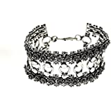 Birthday Gifts For Friend Traditional And Ethnic Oxidised Jewellery Link Bracelet, Indian Fashion,