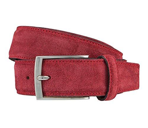 OTTO KERN Cintura di uomini Cintura di Pelle rosso 3660, Länge:115 cm;Farbe:rot
