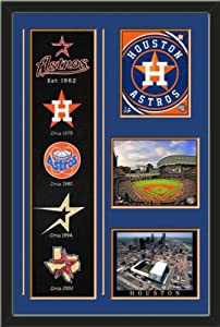 MLB Houston Astros Banner With Logos-2012 Houston Astors Team Logo photo, Minute Maid... by Art and More, Davenport, IA