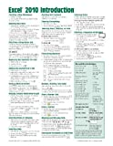 img - for Microsoft Excel 2010 Introduction Quick Reference Guide (Cheat Sheet of Instructions, Tips & Shortcuts - Laminated Card) by Beezix Inc (2010) Pamphlet book / textbook / text book