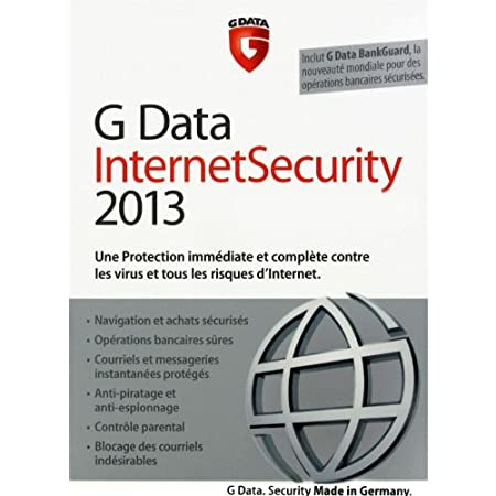 G Data internet security 2013 (3 postes, 1 an)