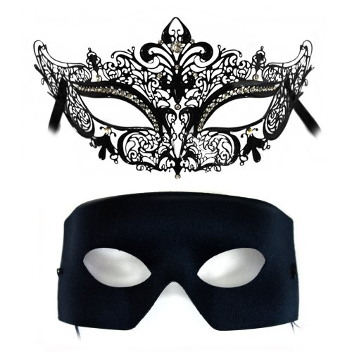 Simone-Verona Laser Cut and Classic Masquerade Masks for a Couple