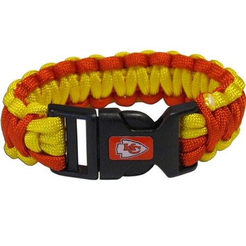 Kansas City Chiefs Nfl Survival Paracord Bracelet Large Authentic Football Team front-920706