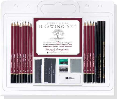 Studio Series 26-Piece Sketch & Drawing Pencil Set (Artist's Pencil and Charcoal Set)