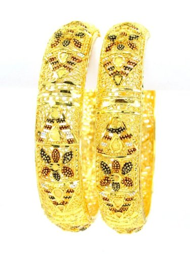 Fashioncart Gold Plated Bangles (yellow)