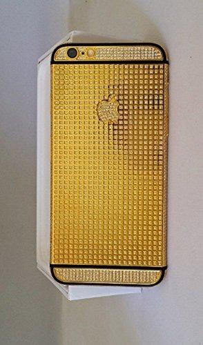 Bestsupply2u discount duty free Apple iPhone 6 Plus - 64GB - Custom 24K Mirror Gold Black Stripe Full Diamond Crystal Edition - International/Factory Unlocked New