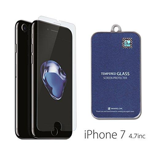 WANLOK 2016 改善版 Apple iPhone 7 4.7インチ ガラスフィルム NSG 日本板硝子社 国産ガラス採用 液晶保護 フィルム 0.3mm 9H ラウンドエッジ 指紋防止 90日保証付 simフリー スマートフォン docomo softbank au国内正規品iPhone7 4.7
