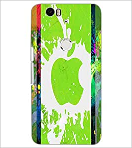 PrintDhaba Apple D-2887 Back Case Cover for HUAWEI NEXUS 6P (Multi-Coloured)