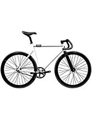 State Bicycle 6061 Black Label Fixed Gear Bike - Pearl White, 59 cm