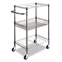 3-Tier Wire Rolling Cart