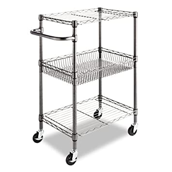 Nice Kitchen Islands u Carts Alera Tier Wire Rolling Cart by