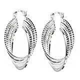 ANDI ROSE Fashion Jewelry 925 Sterling Silver Plated Hoop Stud Earrings for Women
