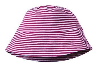 Cotton People organic Mädchen Hut, gestreift Sonnenhut - Mädchen aus 100% Bio-Baumwolle, Gr. 52/54, Mehrfarbig (Ringel rot-weiß)