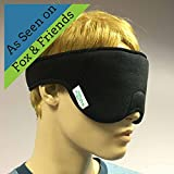 Magnetic Eye Mask for Sleep & Sinuses with strong North Pole Magnets (Color: Black, Tamaño: OS)