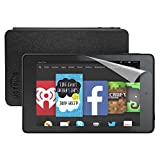 """Kindle Fire HD 6 Essentials Bundle including Kindle Fire HD 6, 6"""" HD Display, Wi-Fi, 8 GB - with Special Offers, Amazon Cover - Black and Screen Protector video review"""