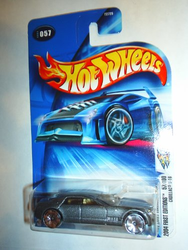Mattel Hot Wheels 2004 First Editions 1:64 Scale Silver Cadillac V16 Die Cast Car #057 (Cadillac Hot Wheels compare prices)