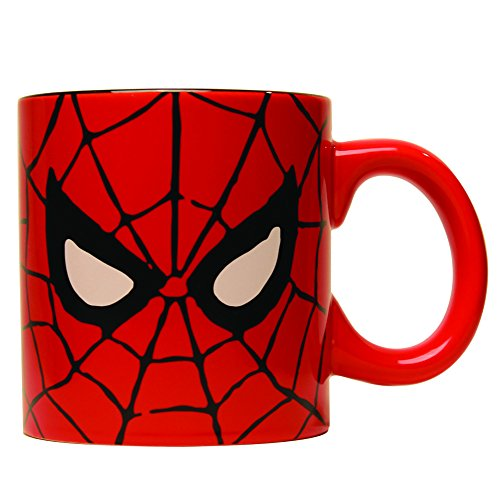 Silver Buffalo MC7034 Marvel Comics Spider-Man Eyes Jumbo Coffee Mug, 20-Ounces