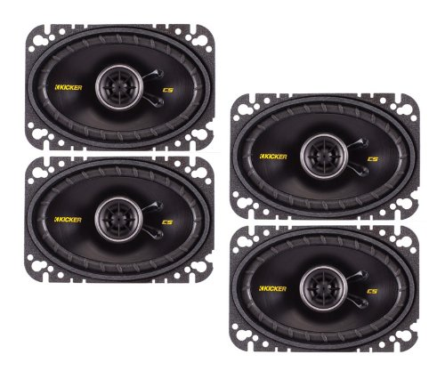 "4) New Kicker 40Cs464 4X6"" 600W 2 Way Car Coaxial Speakers Stereo Audio Cs464"