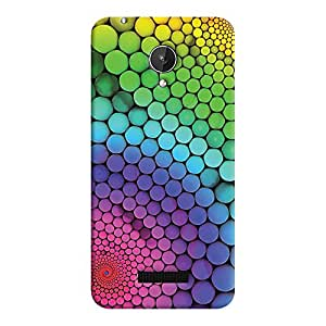 ColourCrust Micromax Canvas Spark Q380 Mobile Phone Back Cover With Colourful Pattern Style - Durable Matte Finish Hard Plastic Slim Case