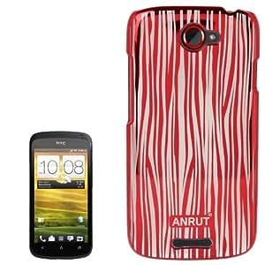 Anrut Stripe Pattern Plastic Case for HTC One S / Z520e (Red)
