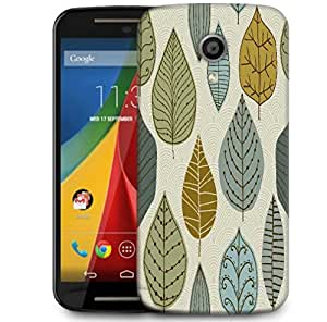 Snoogg Seamless Pattern With Leaf Designer Protective Phone Back Case Cover For Motorola G 2nd Genration / Moto G 2nd Gen