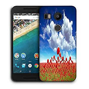 Snoogg Poppy Field Printed Protective Phone Back Case Cover For LG Google Nexus 5X