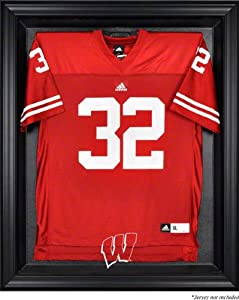 Wisconsin Badgers Mahogany Framed Logo Jersey Display Case by Mounted Memories